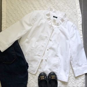 J Crew Atelier Canvas Jacket in White